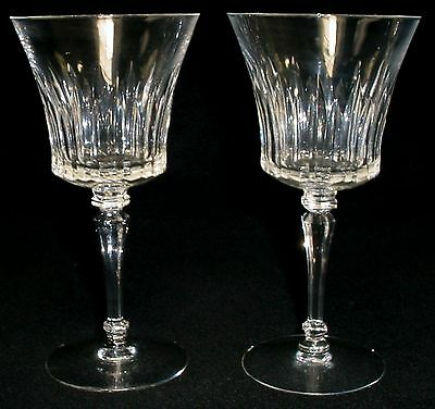 """TIFFIN crystal MELISSA 17687 pattern WATER GOBLET or GLASS 7"""" SET of TWO (2)"""