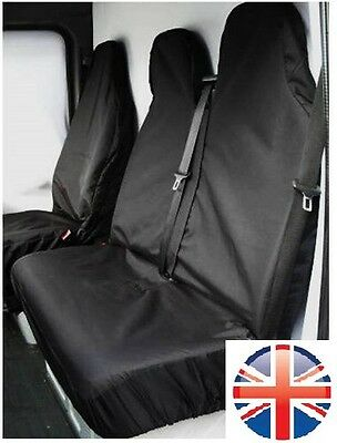 Peugeot Expert 07-On Hdi Heavy Duty Black Waterproof Van Seat Covers 2+1