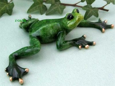 GREEN FROG ADORABLE TROPIC CRITTER Golden Pond RESIN Realistic Sculpture