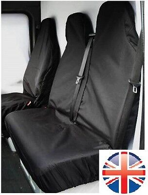 CITROEN BERLINGO Enterprise HEAVY DUTY WATERPROOF BLACK VAN SEAT COVERS 2+1