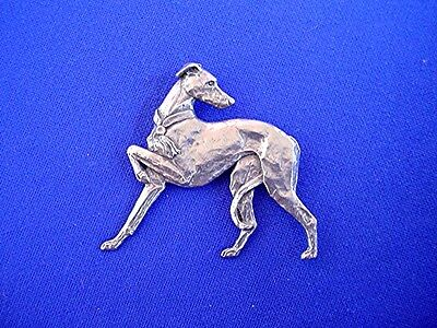 Greyhound IG WHIPPET #12A Pewter Sighthound dog jewelry by Cindy A. Conter