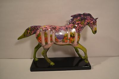 FLORAL Pony Trail of Painted Ponies LOW 1E 3691 RETIRED & RARE Noel Espinoza