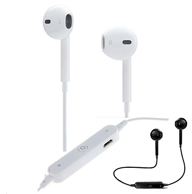Bluetooth Wireless Headset Earbuds with Mic Stereo Headphones for Apple iPhone 7