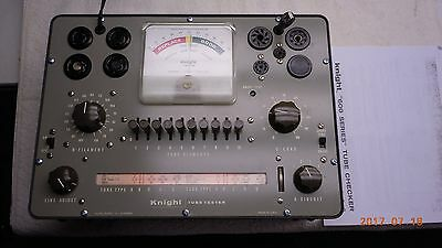 Knight 600A Tube Tester, Tested, Bad Meter, tests 6L6,12AU7,5U4