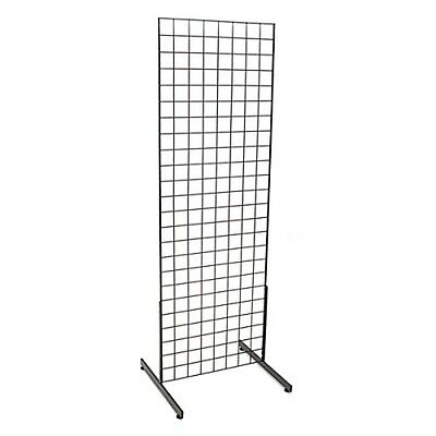 2x6' Grid Unit Rack Rectangular Panel Stand Retail Store Wire Display Legs Black