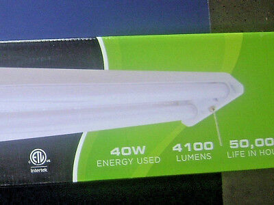 "48"" 40W LED 5000K Shop Light w/ 5' Cord & Pull Chain Switch Maxlite SL-48401-50"