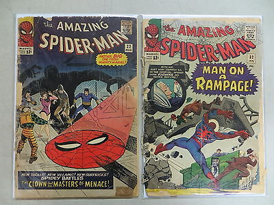 Amazing Spider-Man 2 Issue Silver Comic Lot 22 32 Marvel Ditko