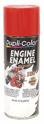 Duplicolor DE1605 Engine Enamel Paint, Ford Red, 12 Oz Can Ceramic 500° F