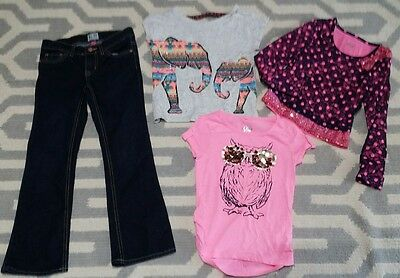 Girls clothing Lot size 6 7 clothes Jeans Shirts Childrens Place Justice School
