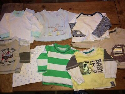 Boys T-shirt Top Bundle 0-3 Months