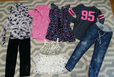 Girls clothing lot size 7 8 Justice Childrens Place School Jeans Skinny Shirts