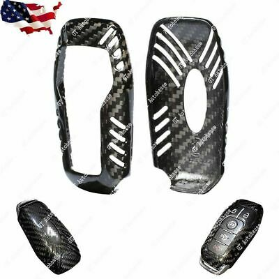 Carbon Fiber Keyless Remote Key Fob Case for Ford Mustang 2015-2018 Automatic