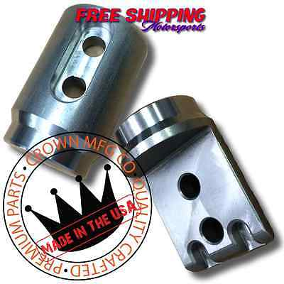 """Crown MFG Polaris RZR-S RZR 900 1 3/4"""" Roll Cage Connectors Adapters Bungs"""