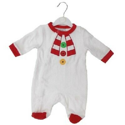 Baby Boys Girls Velour Sleepsuit Babygrow Tiger, Mouse, Knight, Bunny, Mammy