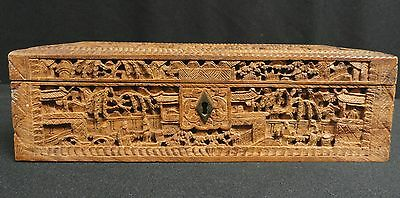 Chinese Wood Carved Box