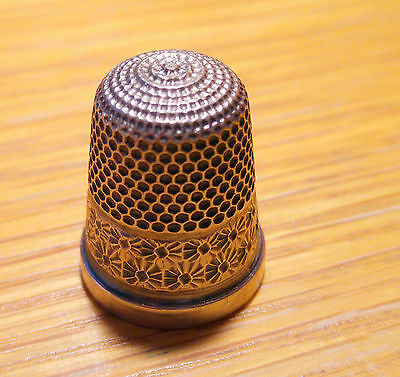 Vintage Silver Thimble - Hallmarked - BIRMINGHAM 1927 Henry Griffith & Sons