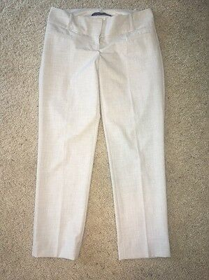 Women's The Limited Beige And Gray Drew Fit Dress Pants Size 4!