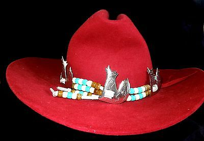 Vintage HOWLING COYOTE Hat-Band OR Head-Band  OR Necklace Southwestern Kitsch