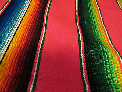VINTAGE SUPER COLORFUL!  HUIPIL Woven shawl or tablecloth