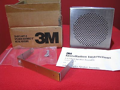 "3M 78-6911-4411-3 Speaker Assembly 5"" Metal Housing Drive Thru Speaker"