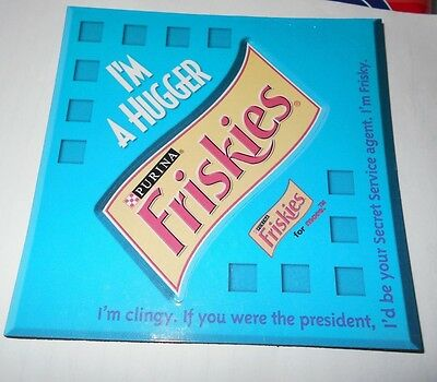 "Purina Friskies Cat Food ""I'm A Hugger"" Refrigerator Magnet Photo Holder"