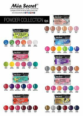 Mia Secret Nail Art Powder Collections Professional System Bold Vivid Colors