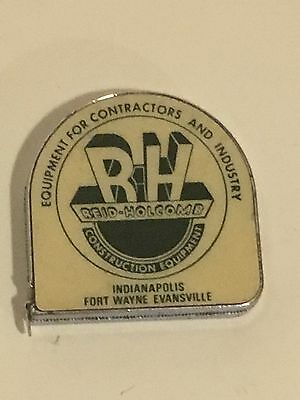 "Vtg Lufkin REID-HOLCOMB Advertising 6' Tape Measure ""Indiana Construction Co"""