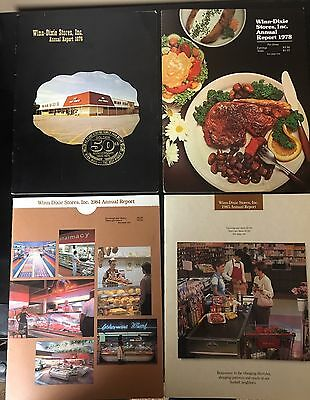 Vintage Lot of 6 WINN DIXIE STORES, INC. Annual Report 70's & 80's RARE.