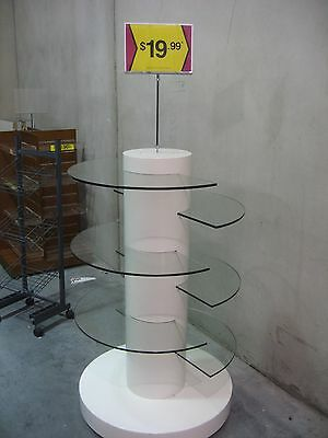 Mobile 6 Tiered Glass Accessory Stand, Shopfittings.