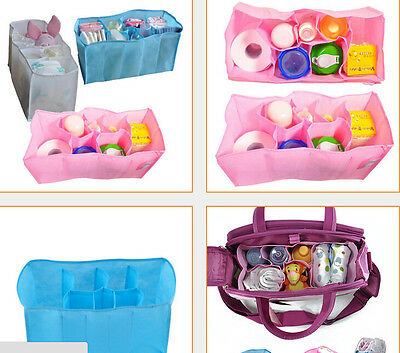 Baby Diaper Bags Portable Outdoor Travel Nappy Changing Organizer Insert Storage