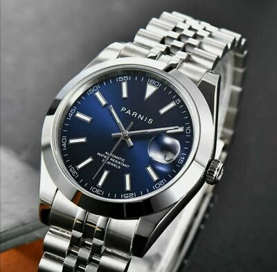 43mm Planca black dial Steel Case Date MIYOTA 8215 Automatic Movement mens Watch