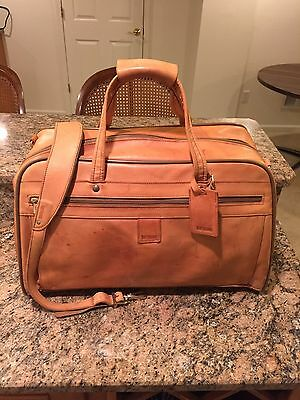 """Hartmann Luggage Belting Leather 21"""" Outing Bag Duffel Carry-On Duffle Gym Bag"""