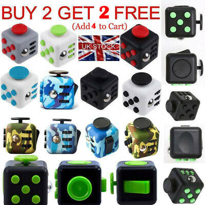 Fidget Cube Spinner Toy Gift Kids Desk Adults Stress Relief Cubes ADHD UK Stock