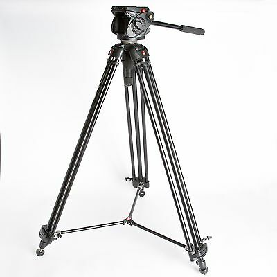 Manfrotto Tripod and spreaders 547B and video head 501 with plate