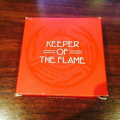 Zippo Lighter Keeper of The Flame Year 2000 Emblem Design (With Case and Box)