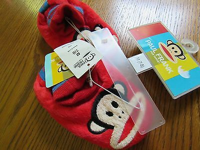 NWT PAUL FRANK for Target RED MONKEY House Shoes Slippers Size Medium 7-8