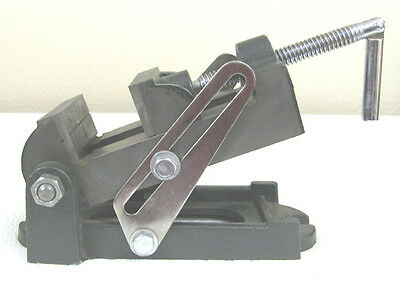 """Machinist's Adjustable Angle Drill Press Vise, 3 1/2"""" Jaw Width,3 1/4"""" Travel"""