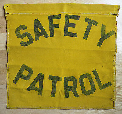 Wisconsin AAA School Safety Patrol Canvas Flag from 1950s