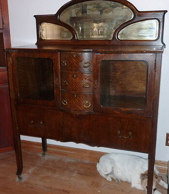 Antique Tiger Oak Sideboard
