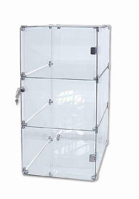 Glass Display Case 3 Level Unit - 5mm Tempered Glass - 815 x 400 X 400 mm-Toneva