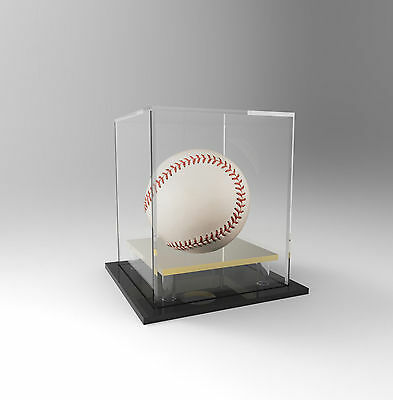 Baseball Display Case Acrylic Perspex - Signed Ball, Memorabilia - GOLD