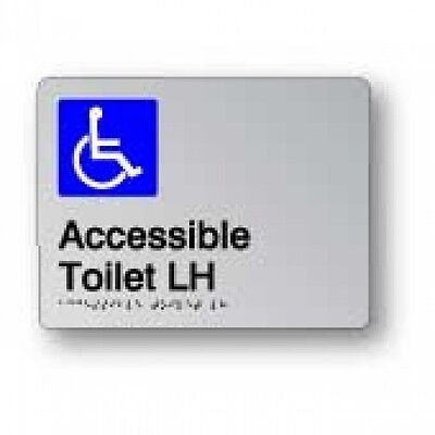 Braille Signage - ACCESSIBLE TOILET LH