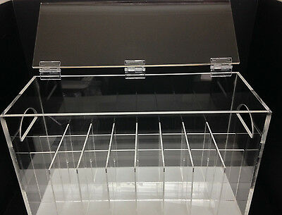 Clear Acrylic Perspex Bottle Display Case 24 Oils, Cosmetics,Candles, Jewellery