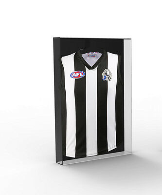 Guernsey Jumper Acrylic Perspex Display Case - AFL,NRL, A League, Soccer Signed