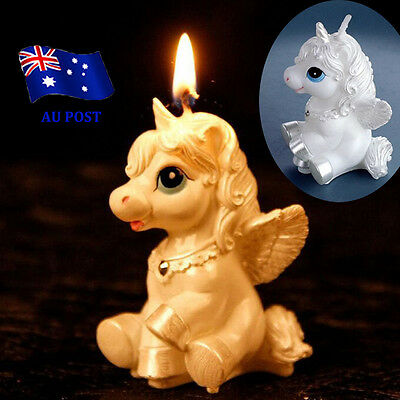 Unicorn Horse Kids Happy Birthday Candle Party Cake Topper Decoration Candles BO