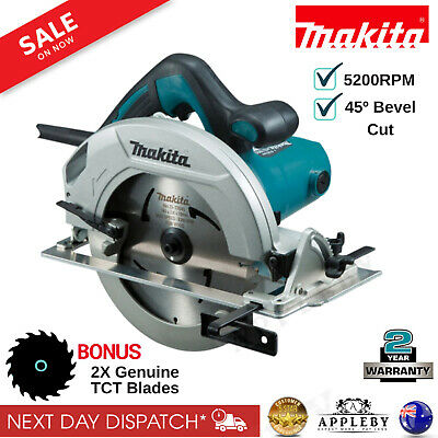 Makita 185mm 1200W Corded Circular Saw TCT Blade x 2 Wood