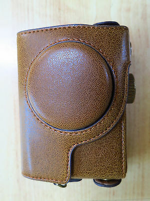 Canon S100 Leather Camera Case Brown New