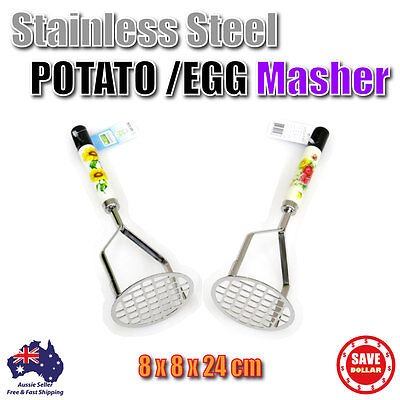 Stainless Steel Potato Egg Hand Masher Puree Fruit Vegetable Juicer Press Maker