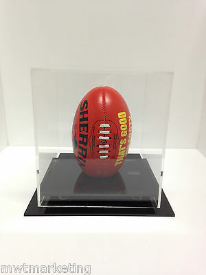 Mini Small AFL Football Deluxe Acrylic Perspex Display Case Signed Memorabilia