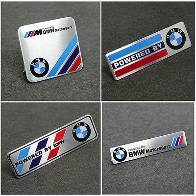 1x Motorsport Aluminum Body Side Emblem Sticker Decal Badge Fit For BMW X5 M3 M4
